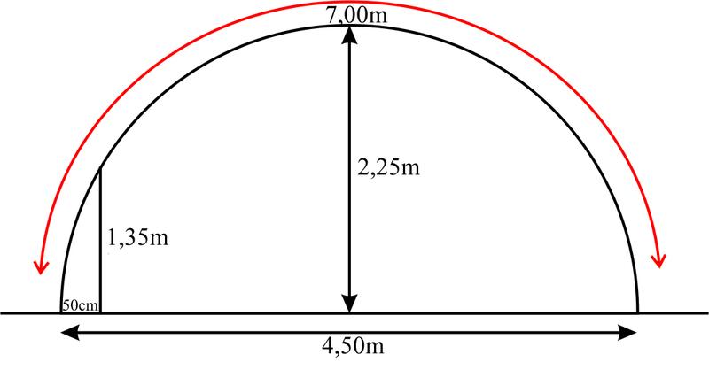 Arceau 32mm pour serre 4 50m de large www casado en ligne fr for Arceau de jardin en fer