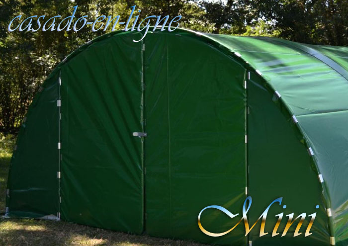 Abri tunnel de jardin mini 5 40m porte double www for Mini abri jardin
