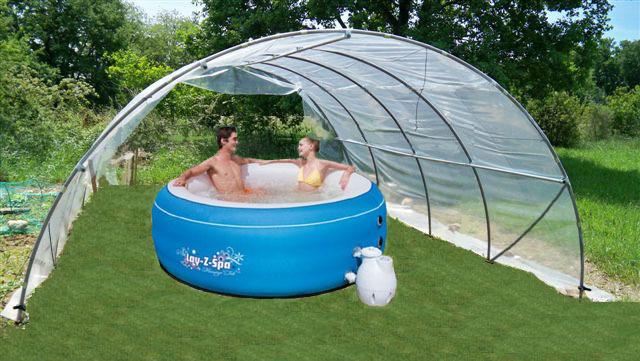 Abri de spa ou de piscine mini 5 40m sans fa ades www for Abri de piscine bulle