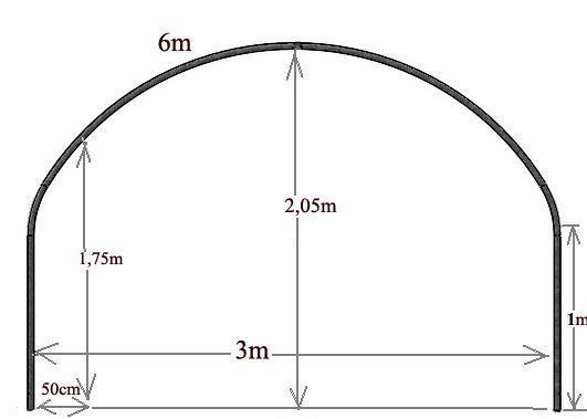 arceau 32mm pour serre 3m de large www casado en ligne fr. Black Bedroom Furniture Sets. Home Design Ideas