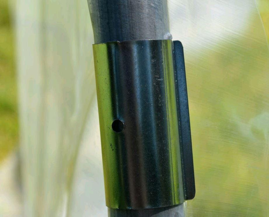 Lot de 100 clips pour fixation de film bâche de serre de jardin sur tubes 32mm